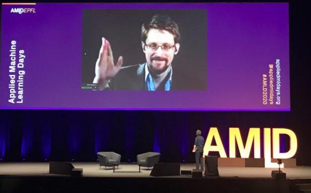 Edward Snowden aux centaines de participants des AMLD à l'EPFL: «Don't stay safe. Stay free!»